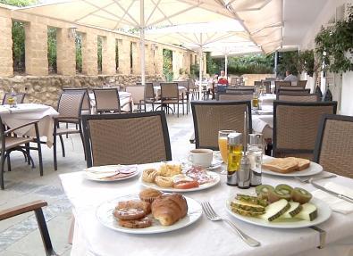 Außenbereich de restaurant Hotel Garbí Costa Luz